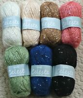 50g Celeste Sequin Double Knitting Knitting Wool Yarn Wendy Wools