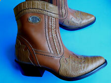 DONATO-MARRONE-MENS-TWO-TONE-LEATHER-ANKLE-BOOTS-10-D