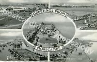 Vintage Greetings from Morecombe Postcard, Valentine's, Silveresque, Arbroath