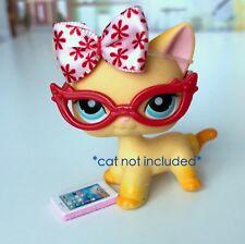 Littlest Pet Shop LPS 3 PC Clothes Accessories Nerd Glasses Custom Lot