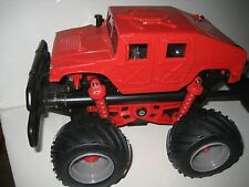 RED HUMVEE TOY CAR Air Pump Propelled Spring Loaded Huge Tires SPINMASTER