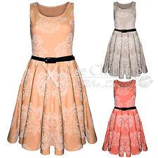 Polyester Cowl Neck Skater Short/Mini Dresses