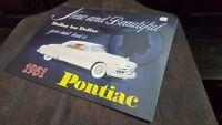 PONTIAC 1951 -  Placa metalica litografiada publicidad 38 x 28 cm. replica