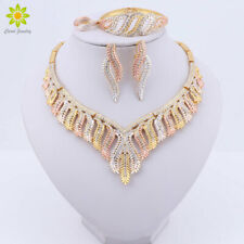 Crystal Necklace Earrings Bracelet Ring Jewelry Sets Party Wedding for Women