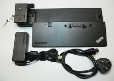 Lenovo 40a10065uk 65 Watt Thinkpad Pro Docking Station + Psu + 2x Keys.