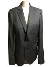 HOCKERTY Bespoke Men's Gents Jacket Grey Tailored Wool Blazer Smart Work Sz 40