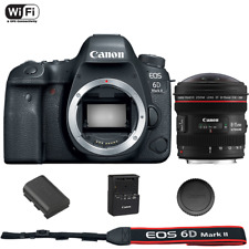 Canon EOS 6D Mark II DSLR Camera Body with EF 8-15mm f/4L Fisheye USM Lens