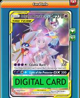 Solgaleo & Lunala GX Full Art 216/236 Cosmic Eclipse PTCGO Online Digital Card