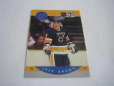 1990/91 PRO SET HOCKEY JEFF BROWN CARD #260***ST. LOUIS BLUES***