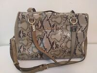 KRIZIAFOI faux leather & snake bag. Top handle, crossbody, smart, eye catching.