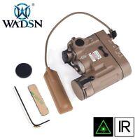 WADSN Tactical LED Flashlight Airsoft IR And GREEN Laser DBAL-MKII - FDE TAN