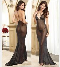 womens party long dress nightclub luxury sexy backless net V-net P6-77