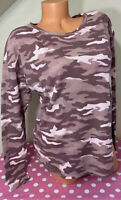 NWT Victorias Secret PINK Long Sleeve Thermal Camoflauge T-Shirt Size Small