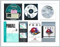 Old Software Programs Lot of Five (5) Games (Pool, Pinball) & more CDs and Disks