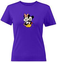 Minnie Mickey Mouse Disney Couple Love Gift Juniors Teen Women Tee T-Shirt S~2X
