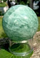 282.6g  LARGE LOVELY GREEN FLUORITE CRYSTAL POLISHED HEALING SPHERE Reiki  USA