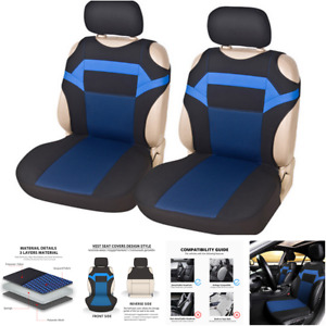 Car Seat Covers Polyester Fabric T-shirt design 2 Front Seat Covers Protector