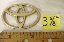 "Toyota gold plastic oval emblem sticker camry 3 5/8"" wide hybrid no stud corolla"