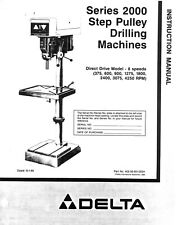 Delta Series 2000 Drilling Machine Instructions Manual