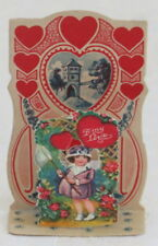 Vintage Valentine, Fold Down, Girl With a Butterfly Net, Germany