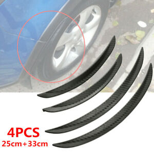 4PCS Carbon Fiber Look Car Body Fender Flares Wheel LIP Mudguard Truck 25cm 33cm