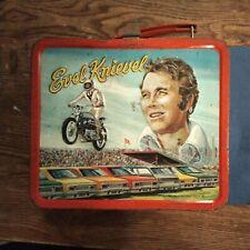 Evel Knievel Metal Lunch Box Vintage Aladdin 37210 © Evel Knievel 1974