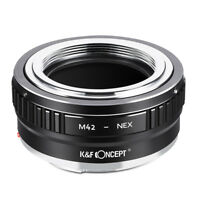 K&F Concept M42-E Lens Adapter fr M42 Screw Lens to Sony E NEX Camera A7 a7 a7R