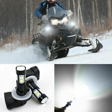 2Pcs 881 50W Bright White LED HeadLight Bulbs Lamp For Arctic Cat Snowmobiles