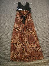 EVA BLUE WOMENS BROWN/BLACK DRESS GOWN SIZE 10 NWT