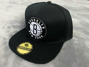 🏀 Brooklyn Nets Embroidered NBA Snapback Adjustable Hat Cap Black NEW B3 🏀