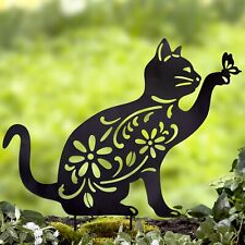 Cat Silhouette Stake for Yards, Gardens - Outdoor Shadow Decoration