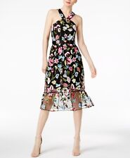 NWT CR By Cynthia Rowley Embroidered Halter Dress, Size S
