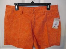 NWT - PARADISE SHORES women's SHORTS - Orange print - sz 12 - MSRP $44.00
