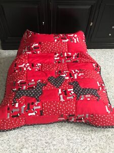 NEW Handmade Red & Black Mini Doxie Dog Quilt for MidWest Dachshund Rescue