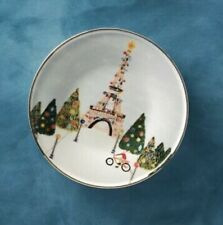 Christmas Time in The City Paris Plate Anthropologie Holiday Dessert Side Canape