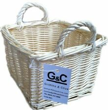WICKER BASKET LIGHT SQUARE HANDLED GIFT  DISPLAY STORAGE BUY 2 GET 2ND 50% OFF