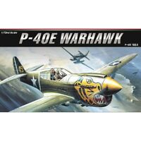 1:72 Academy Curtiss P-40e Warhawk Fighter Plastic Model Kit - 172 P40e 12468