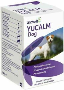 Calming Supplement for Dogs Stress Anxiety Lintbells YuCALM 120 Tablets FASTFREE