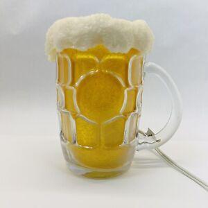 Dimple Stein Glass Beer Mug Light Bar Man Cave Decor  Light Up Beer Glass Rare