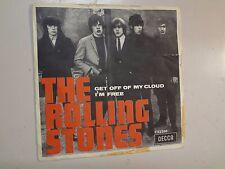 "ROLLING STONES: Get Off Of My Cloud- I'm Free-Sweden 7"" 1965 Decca F 22265 PSL"