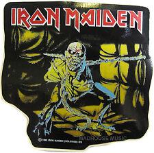 IRON MAIDEN Sticker Piece Of Mind SHAPED OFFICIAL Iron Maiden Holdings 1983 Eddi