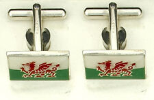 Solid 925 Sterling Silver Cufflinks Welsh Dragon Cufflinks Sil;ver Cufflinks