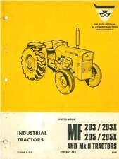 Massey Ferguson Tractor 203 203X 205 205X & MkII Manual