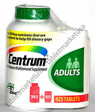 Centrum 425 Tablets Men/Women Adults under 50 Multi Vitamin Mineral ( 365 + 60 )