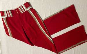 Boombay Adult Open Hem Baseball Pant, Size 34, Red