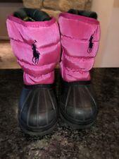 Snow Boots Girl Toddler Ralph Lauren Polo Girls Winter Rain Duck Size 8