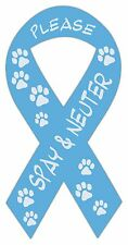 Ribbon Shaped Magnets: Please Spay & Neuter (Dogs, Cats) | Cars, Trucks, Support