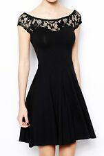 "ABITO donna kleid party cerimonia ""miss denny guess what?""coll. black rose TG.XS"