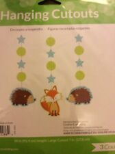 Forest Fox Party Supplies Hanging Cutouts decorations 3ct.