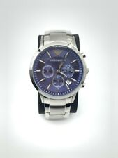 NEW Authentic EMPORIO ARMANI MENS AR2448 WATCH BLUE DIAL - 2 years warranty